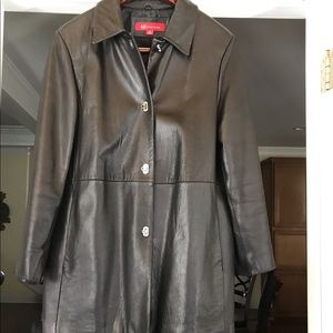 Leather Coat - Gently worn